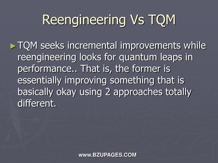 Reengineering Vs TQM