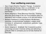 four wellbeing exercises