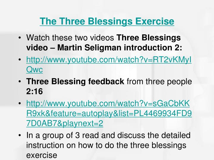 The Three Blessings Exercise