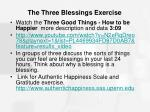 the three blessings exercise1