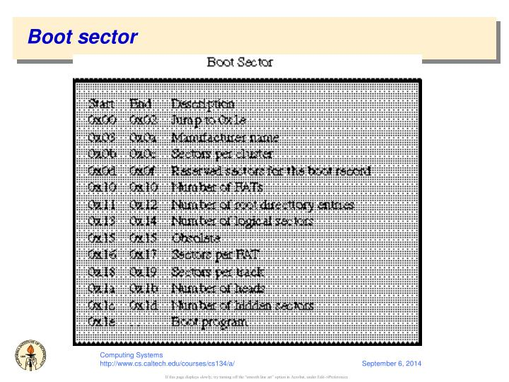 Boot sector