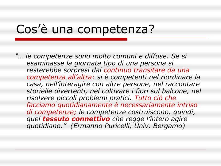 Cos'è una competenza?