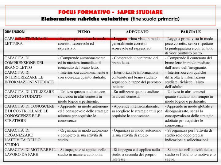 FOCUS FORMATIVO -