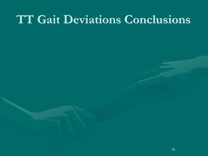 TT Gait Deviations Conclusions