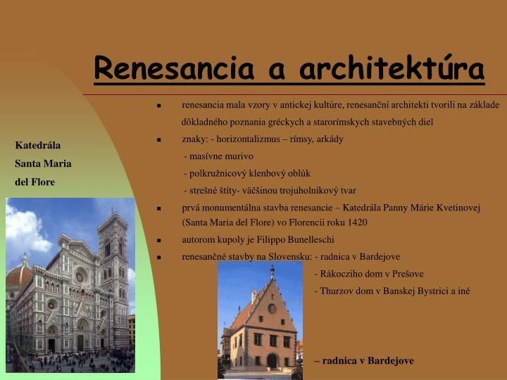 Renesancia a architektúra