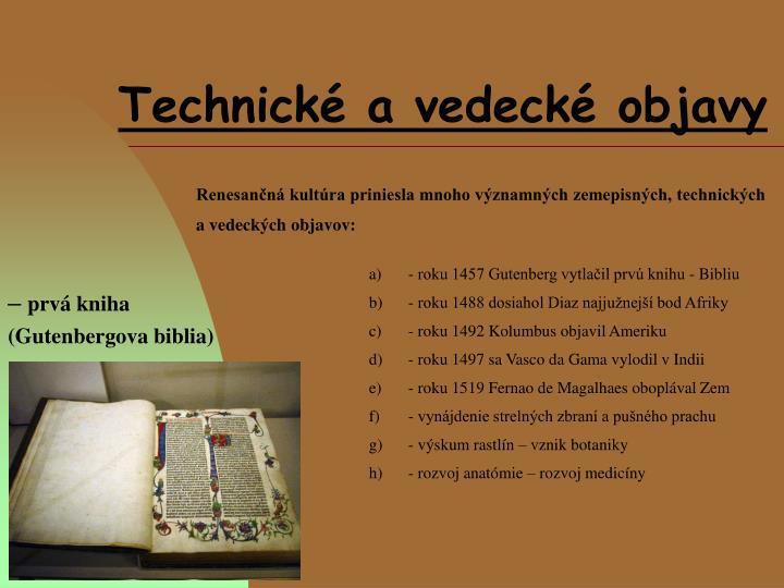 Technické a vedecké objavy