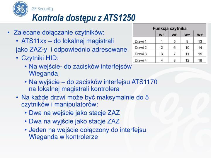 Kontrola dostępu z ATS1250