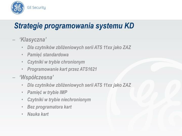 Strategie programowania systemu KD