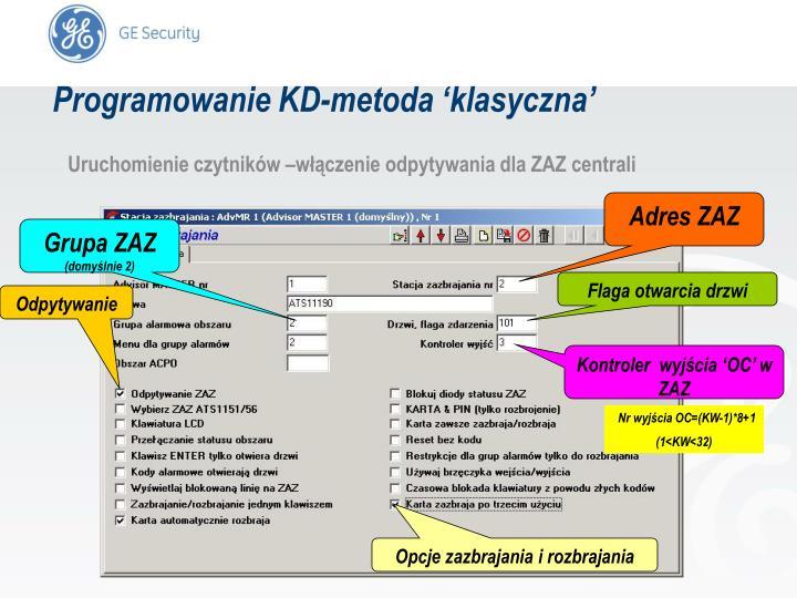 Programowanie KD-metoda 'klasyczna'