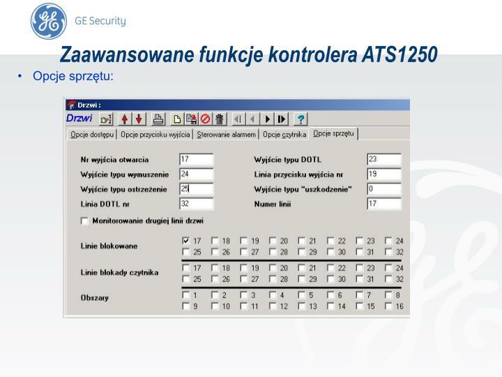 Zaawansowane funkcje kontrolera ATS1250