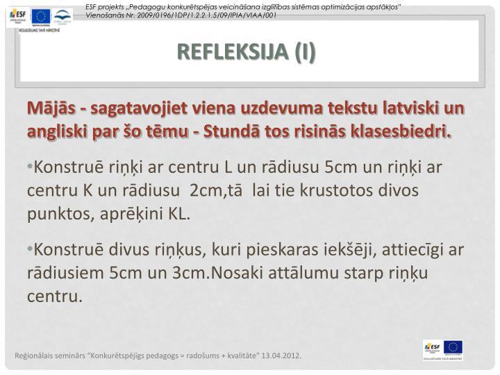Refleksija (I)