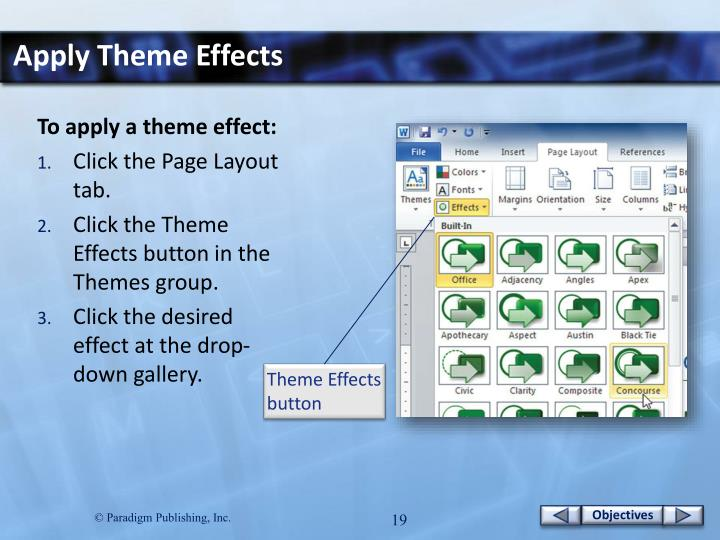 Apply Theme Effects