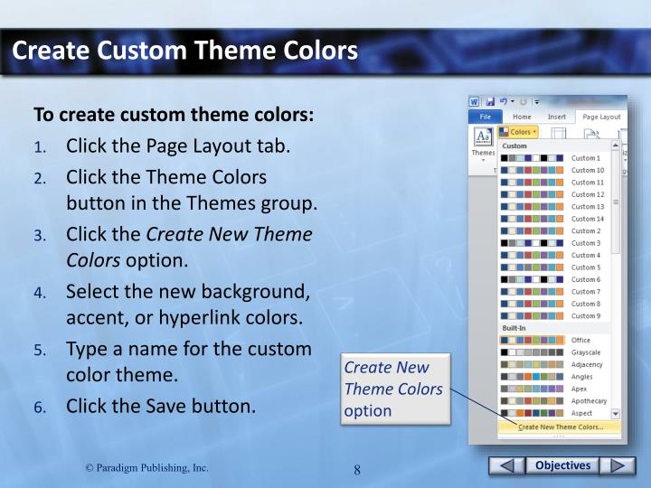 Create Custom Theme Colors