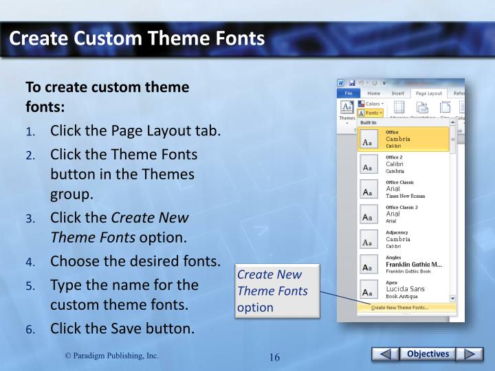Create Custom Theme
