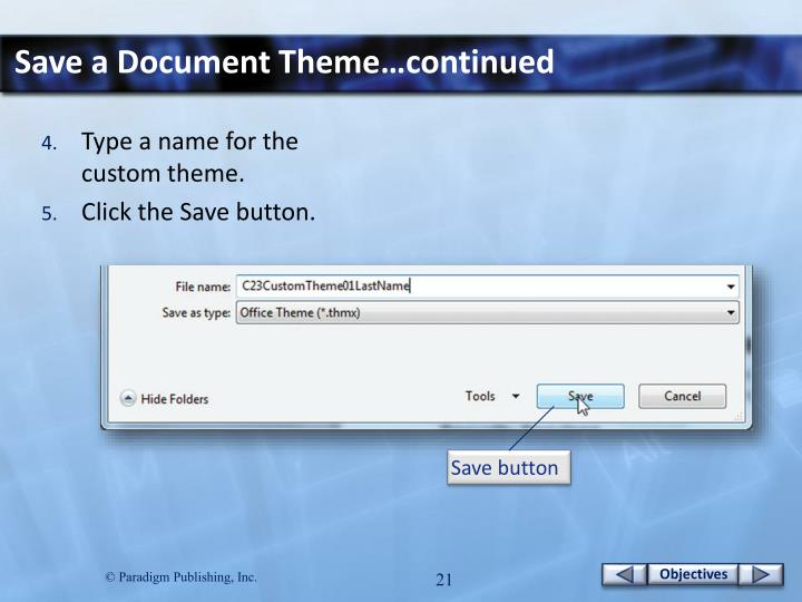 Save a Document