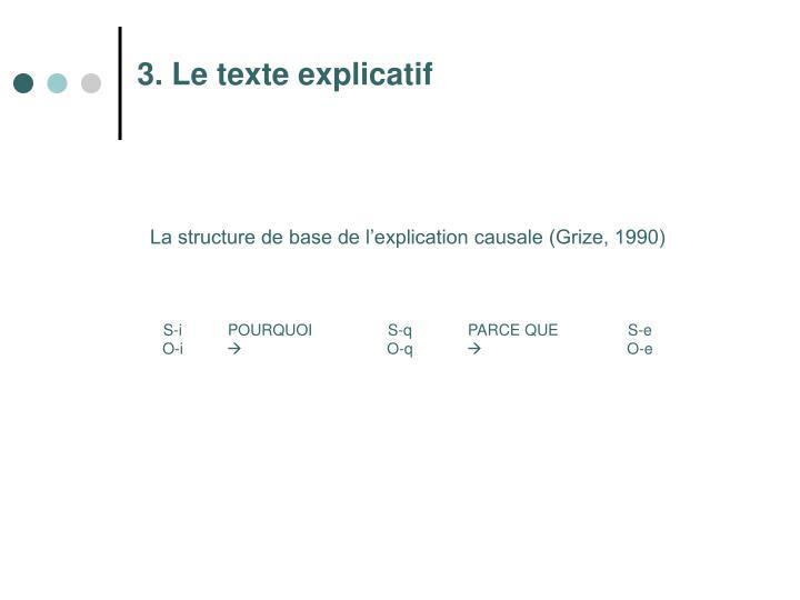3. Le texte explicatif