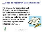 d nde se registran las comisiones