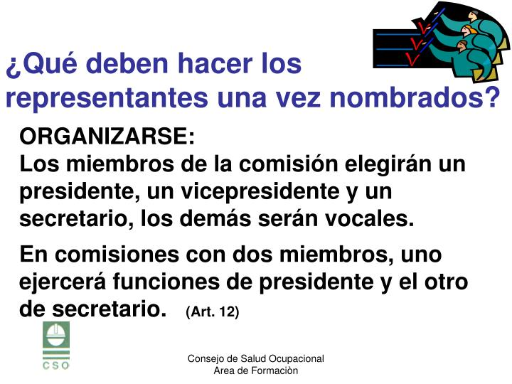 ORGANIZARSE: