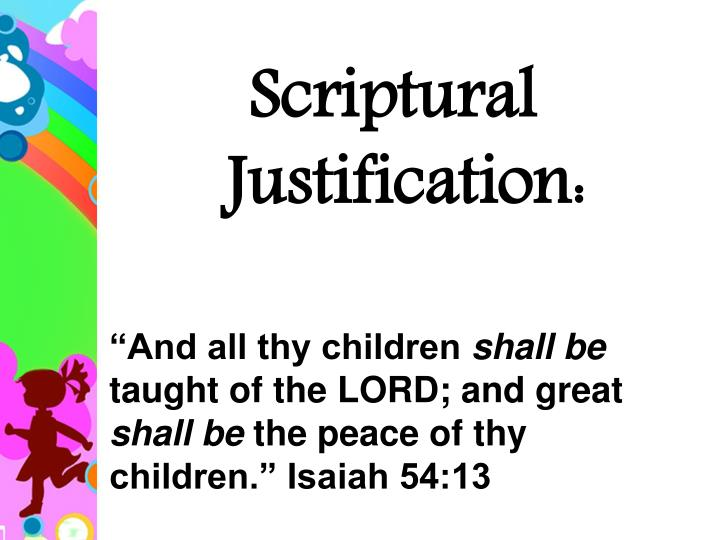 """And all thy children"