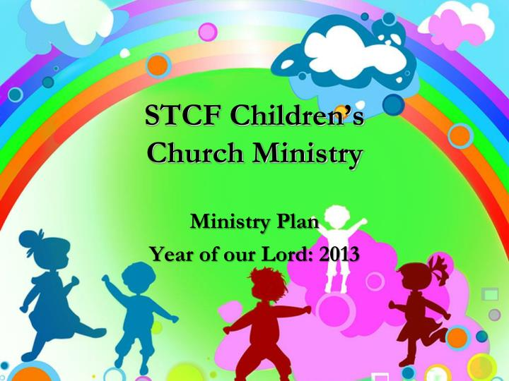 Stcf children s church ministry