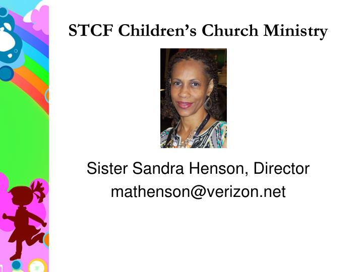 Stcf children s church ministry1