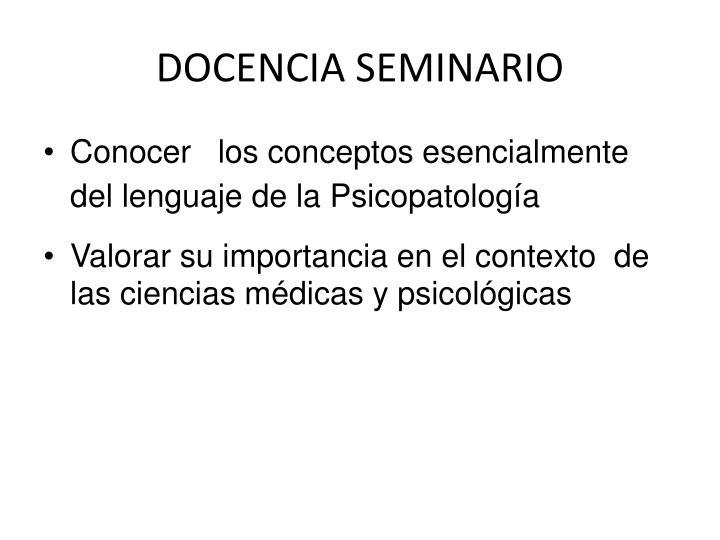 DOCENCIA SEMINARIO