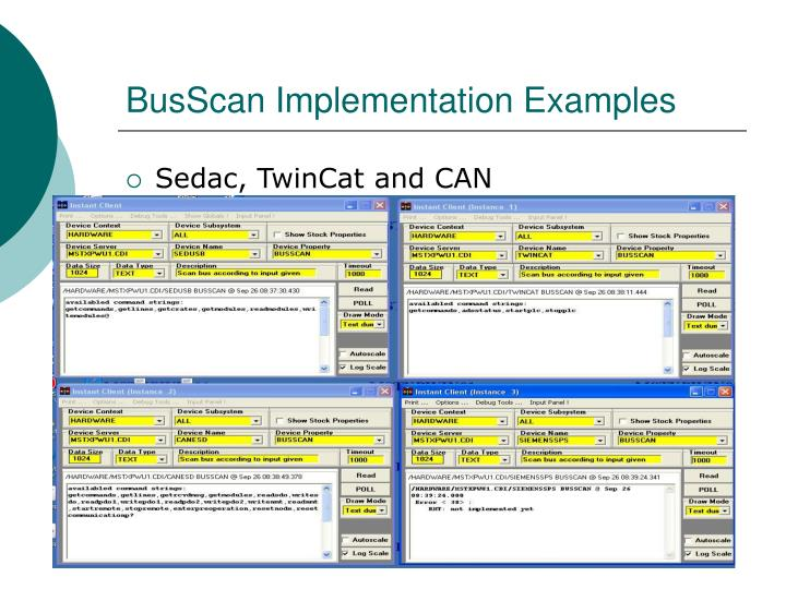 BusScan Implementation Examples