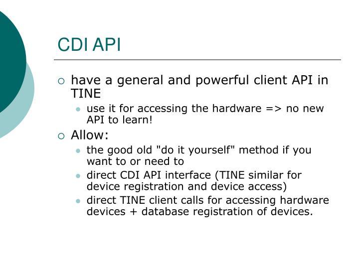 CDI API
