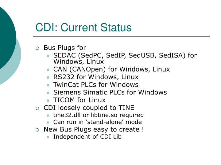 CDI: Current Status