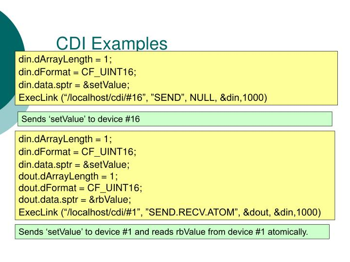 CDI Examples