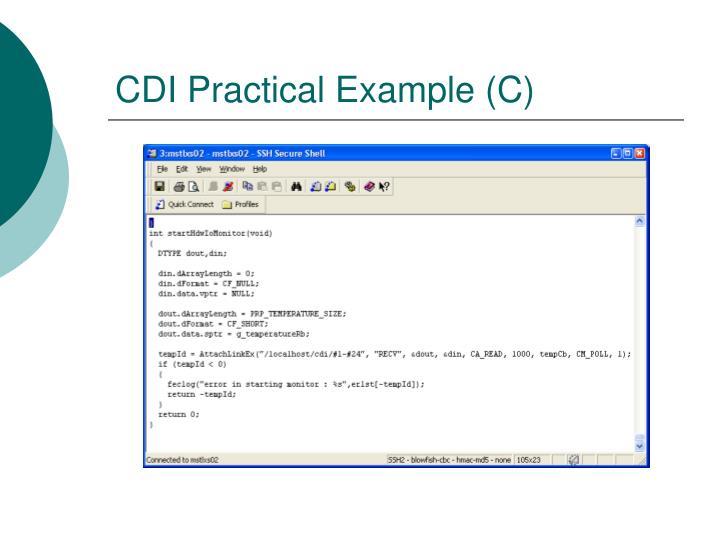 CDI Practical Example (C)
