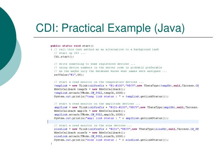 CDI: Practical Example (Java)