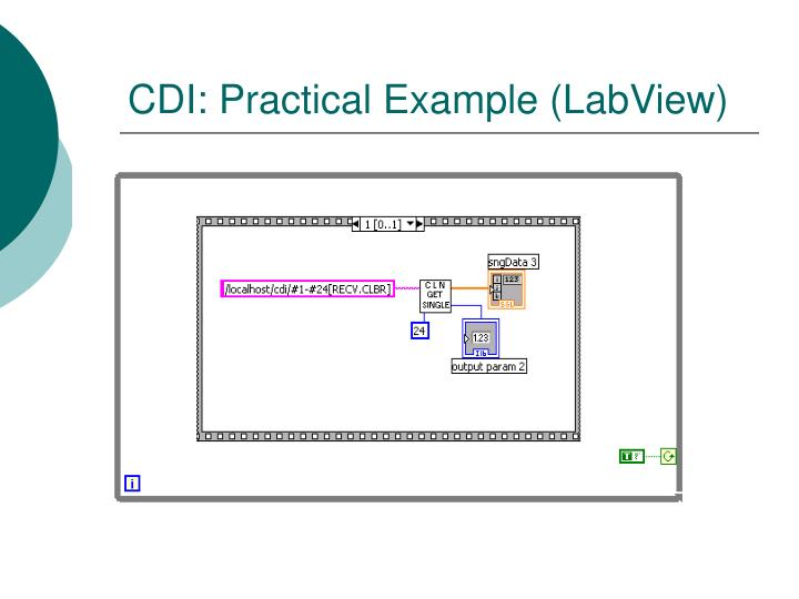 CDI: Practical Example (LabView)