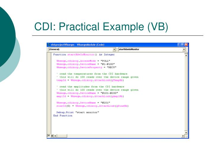 CDI: Practical Example (VB)