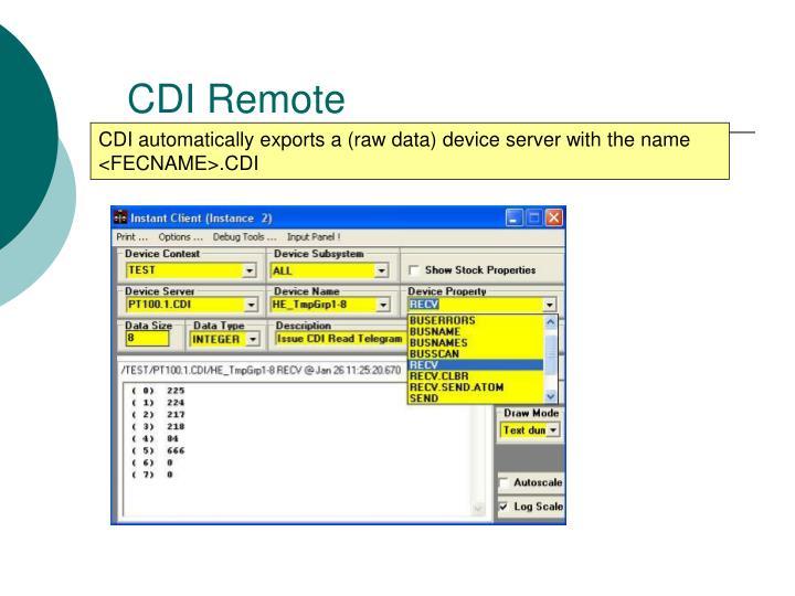 CDI Remote