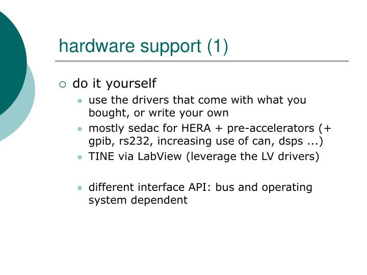 Hardware support 1