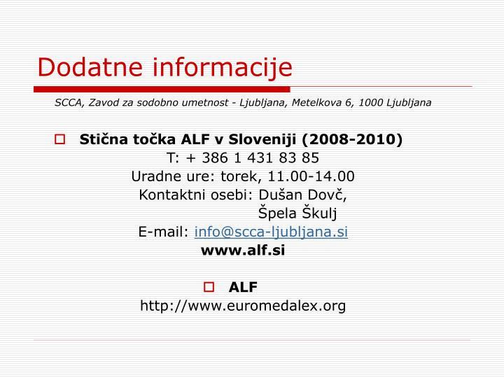 Stična točka ALF v Sloveniji (2008-2010)