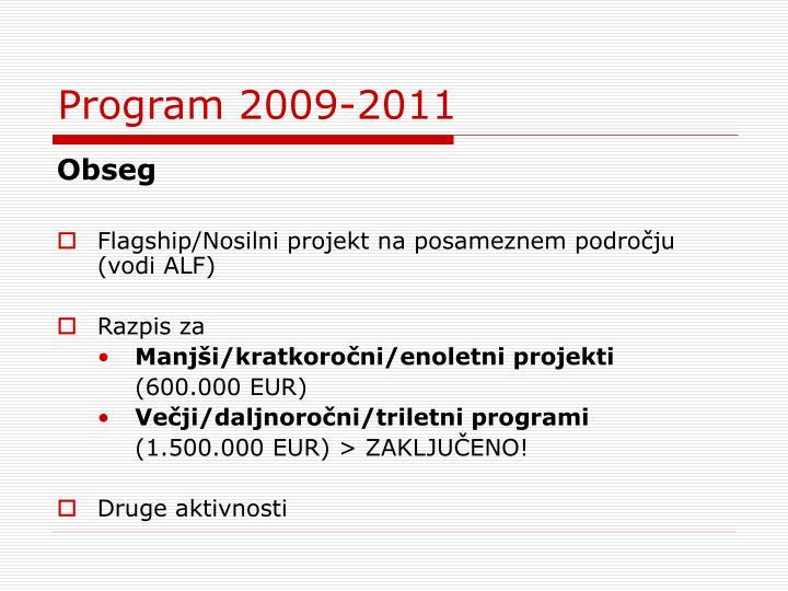 Program 2009-2011