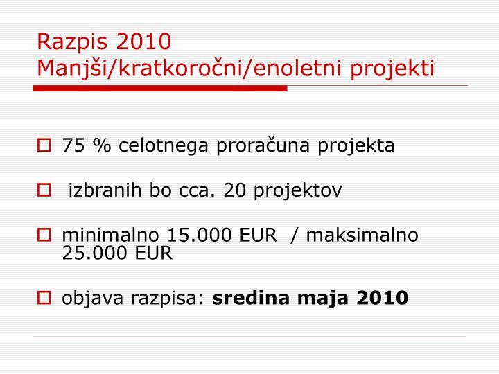 Razpis 2010