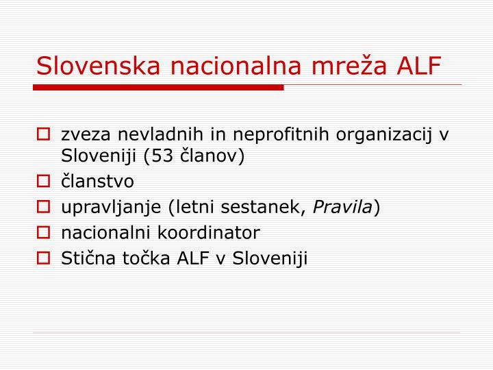 Slovenska nacionalna mreža ALF