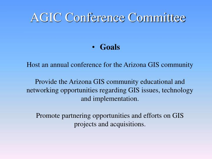 AGIC Conference Committee