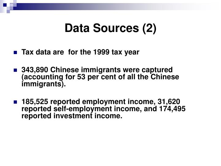 Data Sources (2)