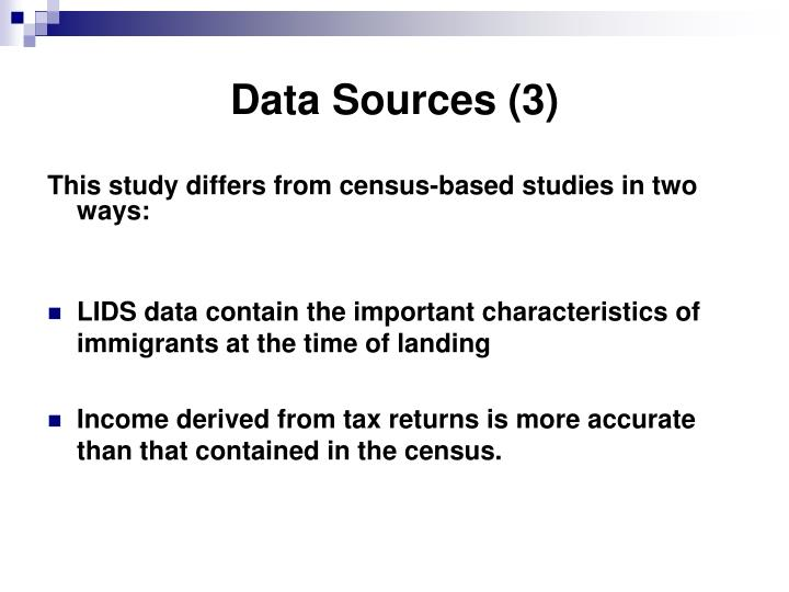 Data Sources (3)