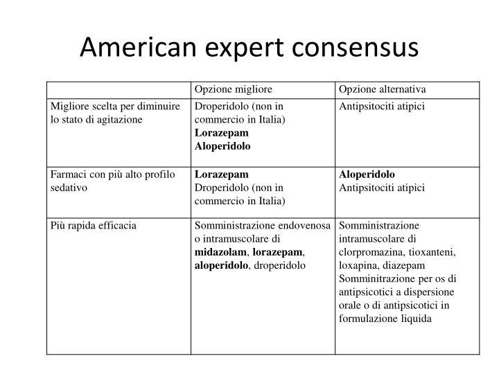 American expert consensus