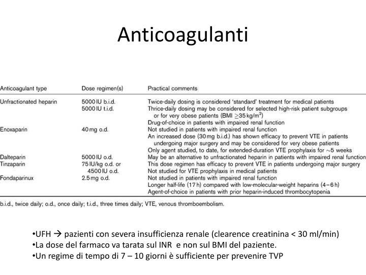Anticoagulanti