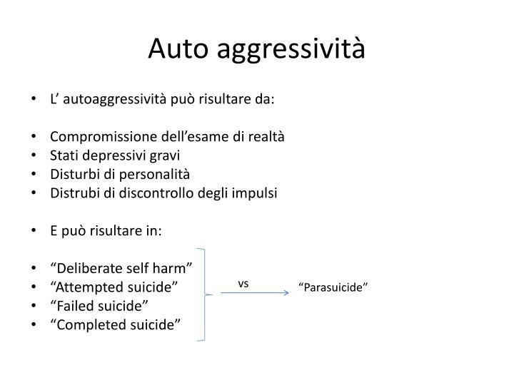 Auto aggressività