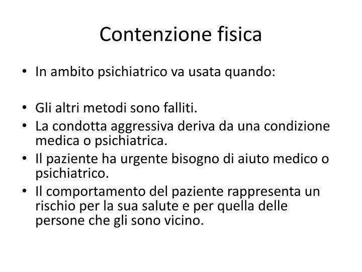 Contenzione fisica