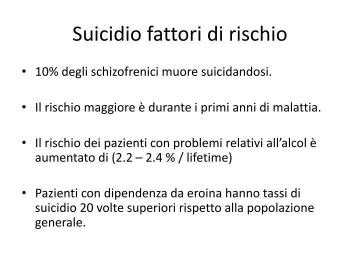 Suicidio fattori di rischio
