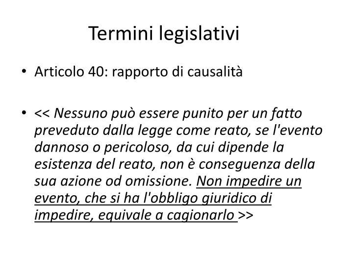 Termini legislativi