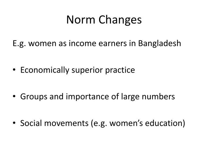 Norm Changes